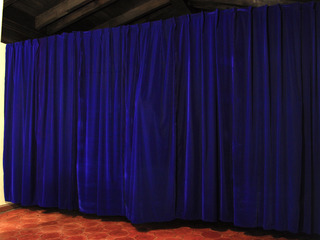 BLUE VELVET, 2013, fabric, 480x300x40 cm, Installation view: The Presence of Marta Villa Aurora, Los Angeles, 2013